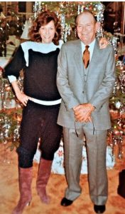 Karen Carpenter and her father in the 1982 christmas