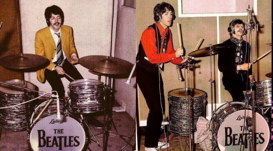 Paul McCartney Beatles Drums
