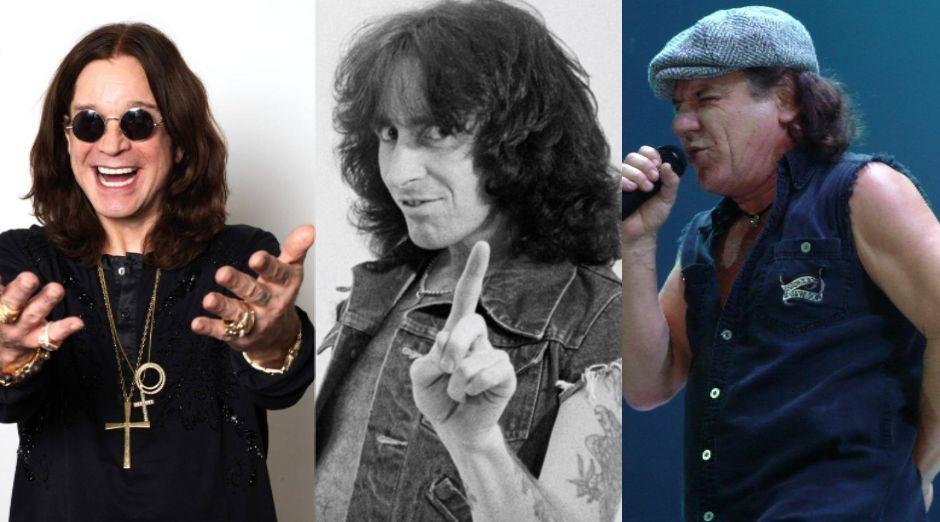 Ozzy Osbourne Bon Scott Brian Johnson