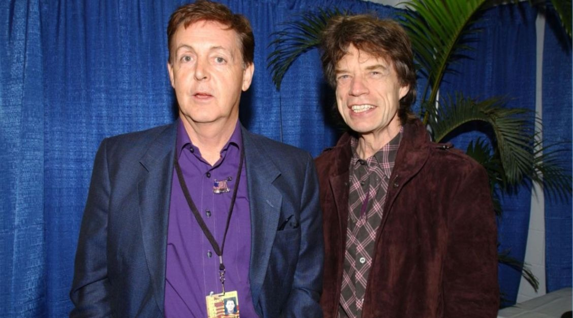 Mick Jagger Paul McCartney