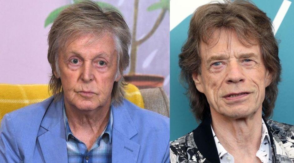 Paul McCartney Mick Jagger