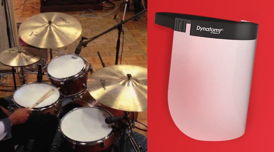 Turn drums facial shields