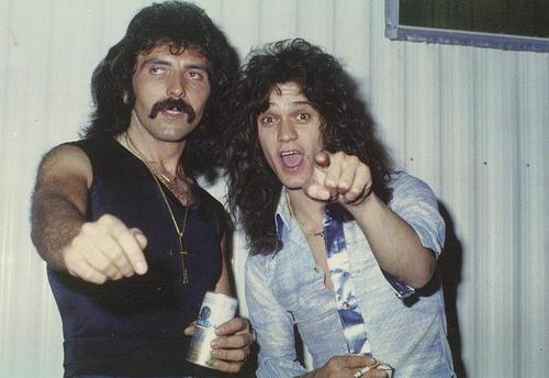 Eddie Van Halen Tony Iommi 1978
