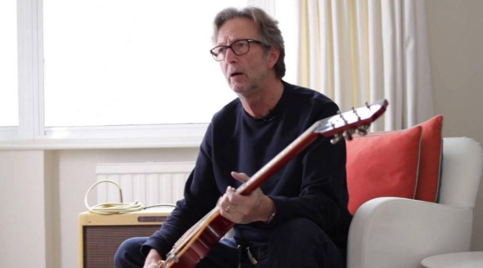 Eric Clapton fire guitar
