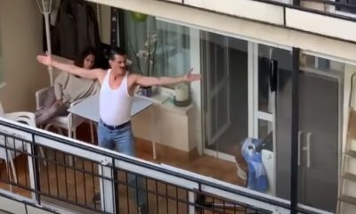 Freddie Mercury spain balcony quarantine