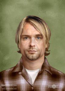 Rockstars Kurt Cobain nowadays