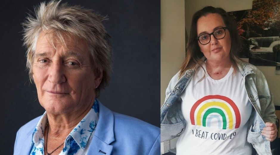 Rod Stewart gives to nurse who overcame Covid-19 a £ 5000 check