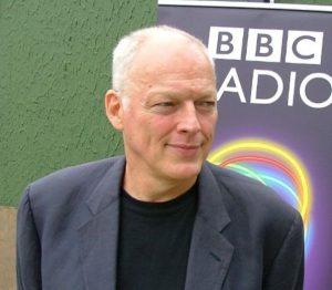 David Gilmour backstage
