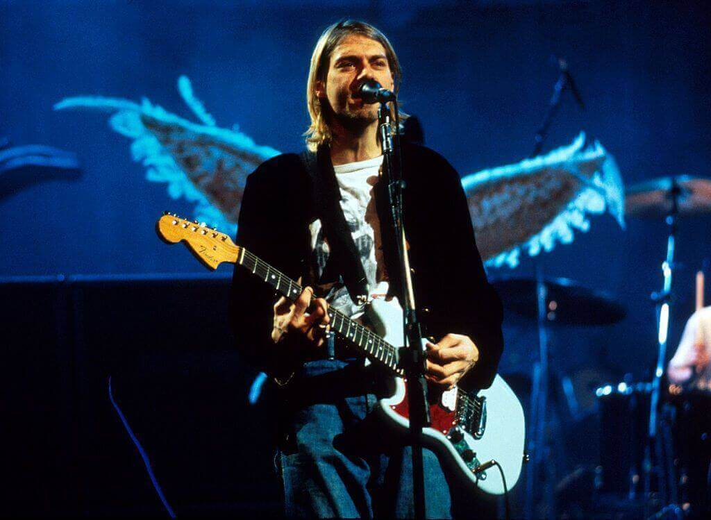 Kurt Cobain guitar blue