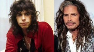 Steven Tyler now and then