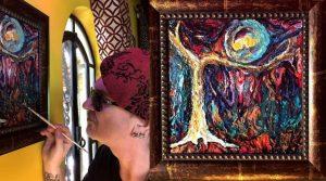 Wayne Hussey painting