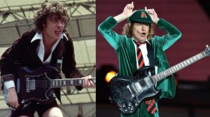 Angus Young now and then