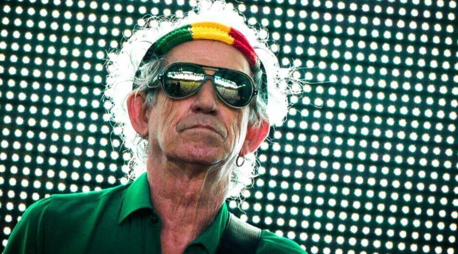 Keith Richards playing guitar