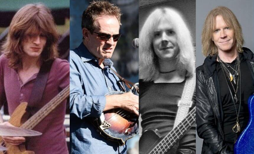 hard rock bassists now and then