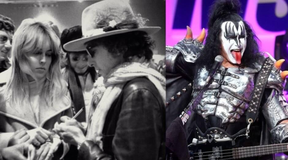 Bob Dylan Sharon Stone Gene Simmons