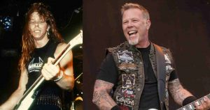 James Hetfield now and then