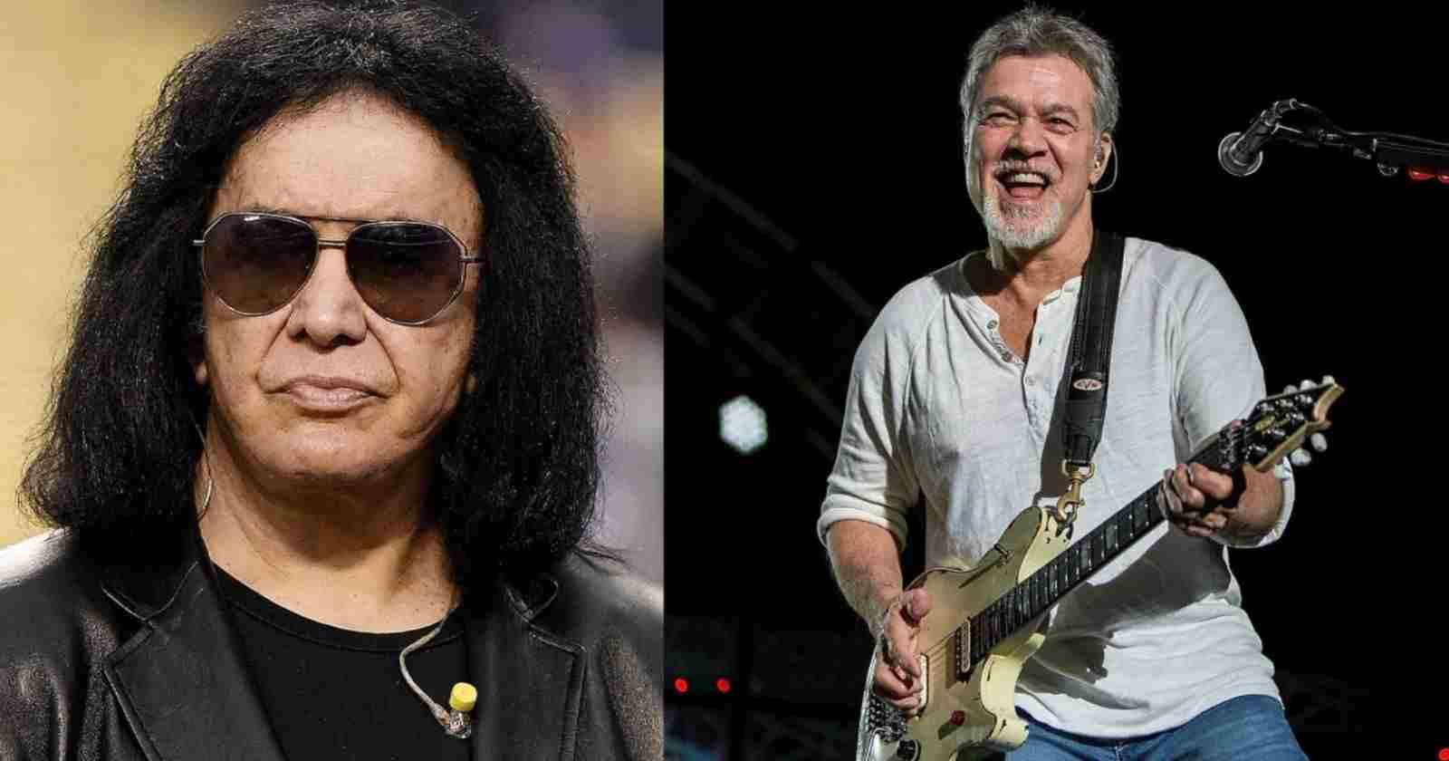 Gene Simmons Eddie Van Halen