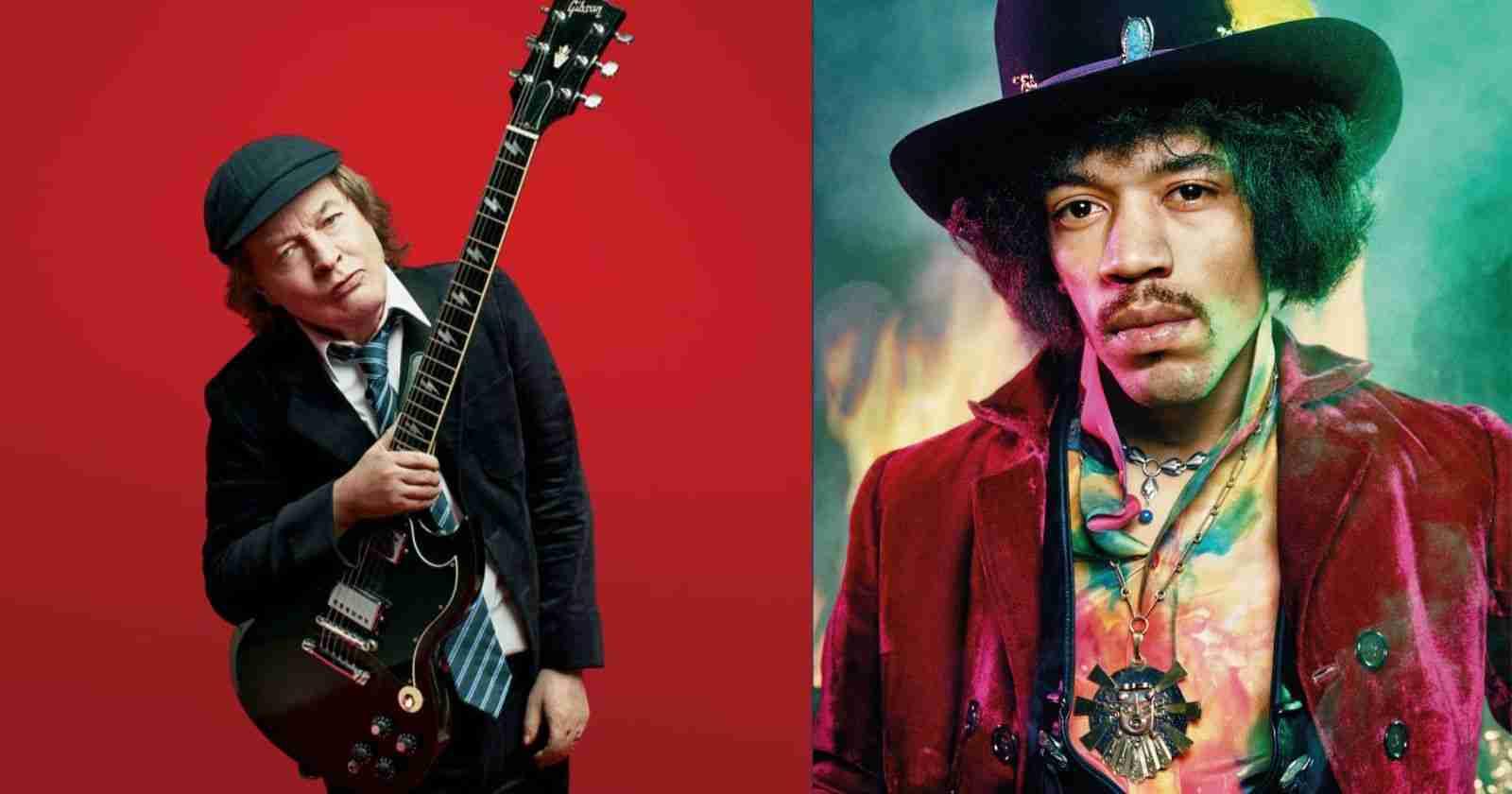 Angus Young Jimi Hendrix