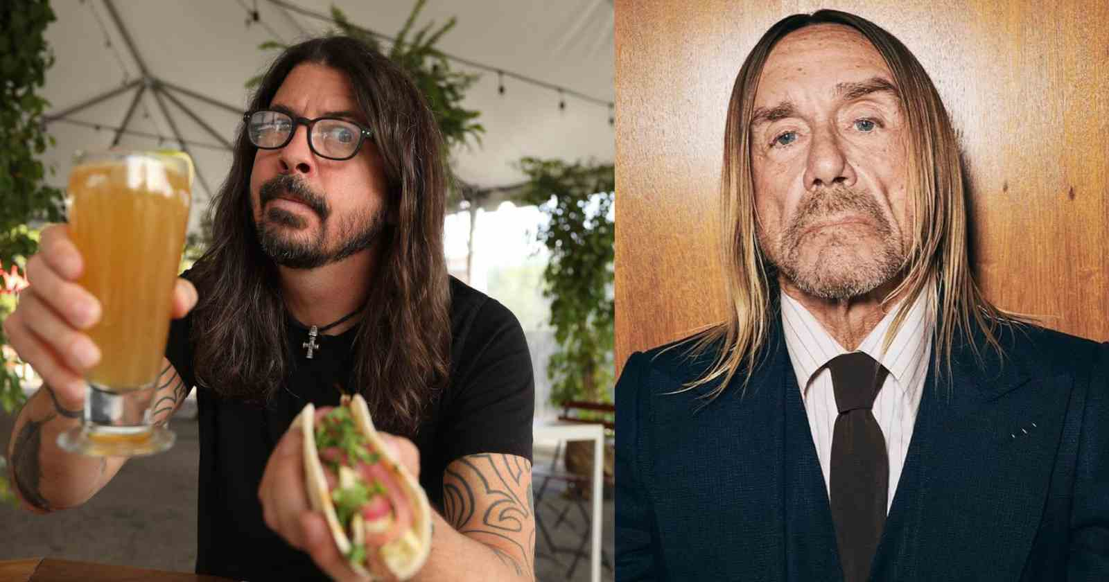 Dave Grohl Iggy Pop