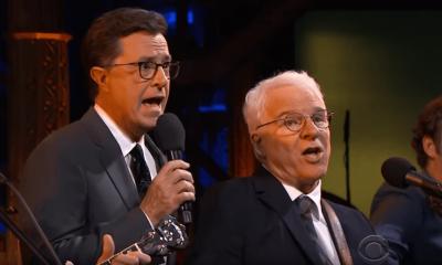 Stephen Colbert and Steve Martin