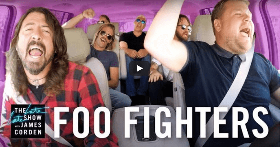 Watch Foo Fighters carpool karaoke with James Corden
