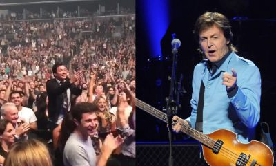 """Paul McCartney took some time out of his concert at Barclays Center on Tuesday night (Sept. 19) to call out Fallon and say happy birthday, and then, of course, sing """"Birthday"""" to the 43-year-old Tonight Show host, who was in the audience not believing that everything was real."""