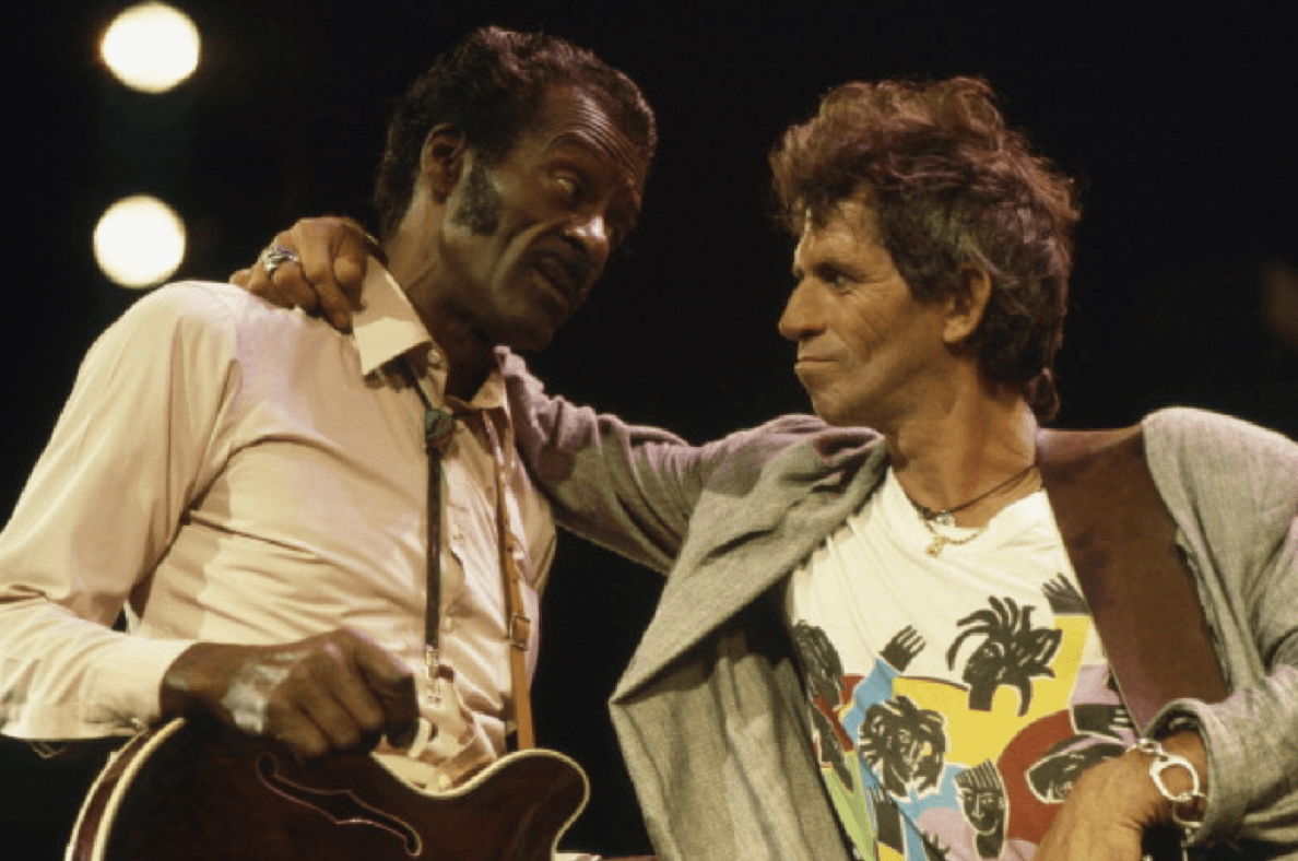 Chuck Berry and Keith Richards