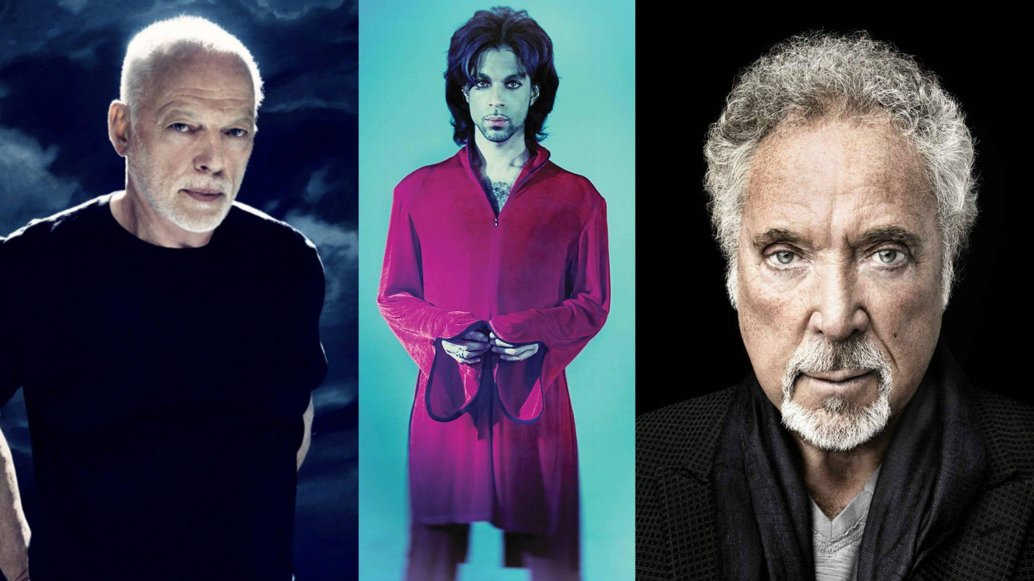 David Gilmour, Prince, Tom Jones