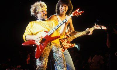 Eddie Van Halen and Sammy Hagar 1985