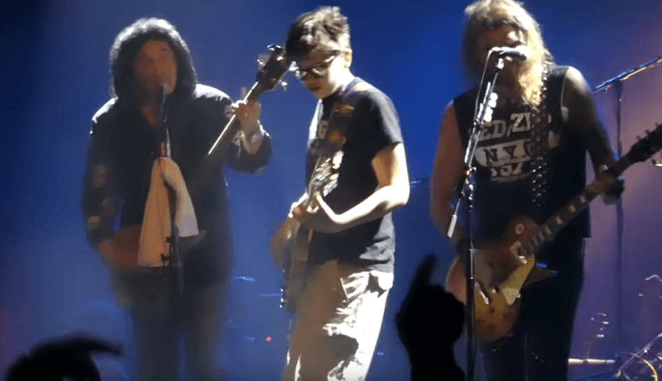 Back In Time: Young fan performs Parasite with Gene Simmons