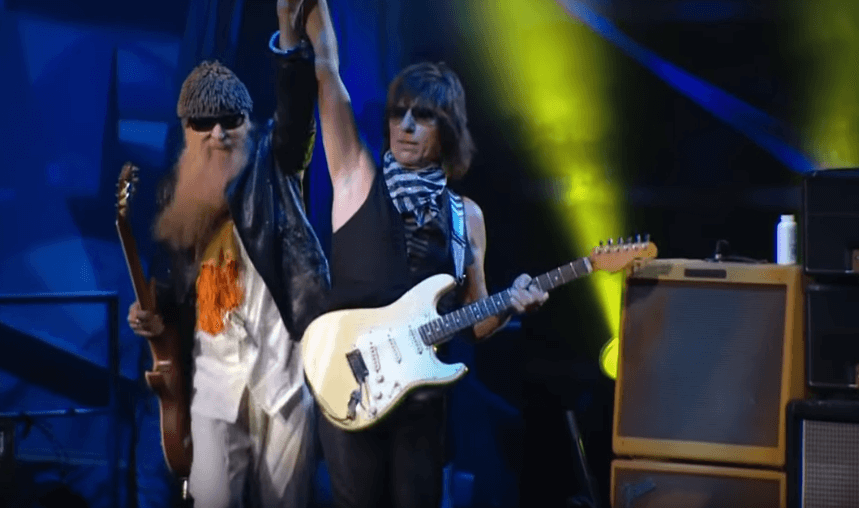 "Back In Time: Jeff Beck and Billy Gibbons performing ""Foxy Lady"""