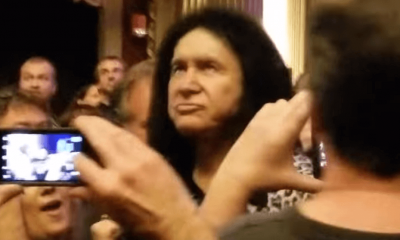 Gene Simmons in the crowd
