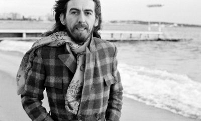 George Harrison on the beach