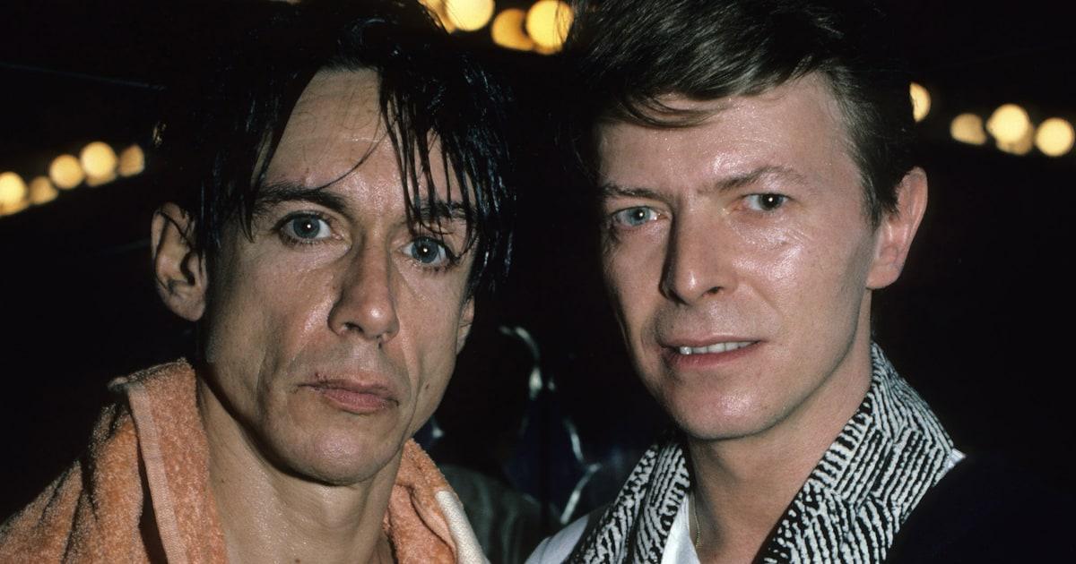 Iggy Pop and David Bowie