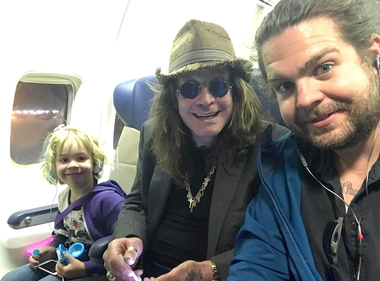 Ozzy Osbourne and family