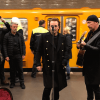 Bono Vox and The Edge in Berlin subway