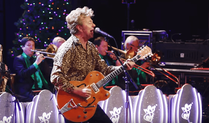 """Watch Brian Setzer's rockabilly version for ACDC's """"Let There Be Rock"""""""