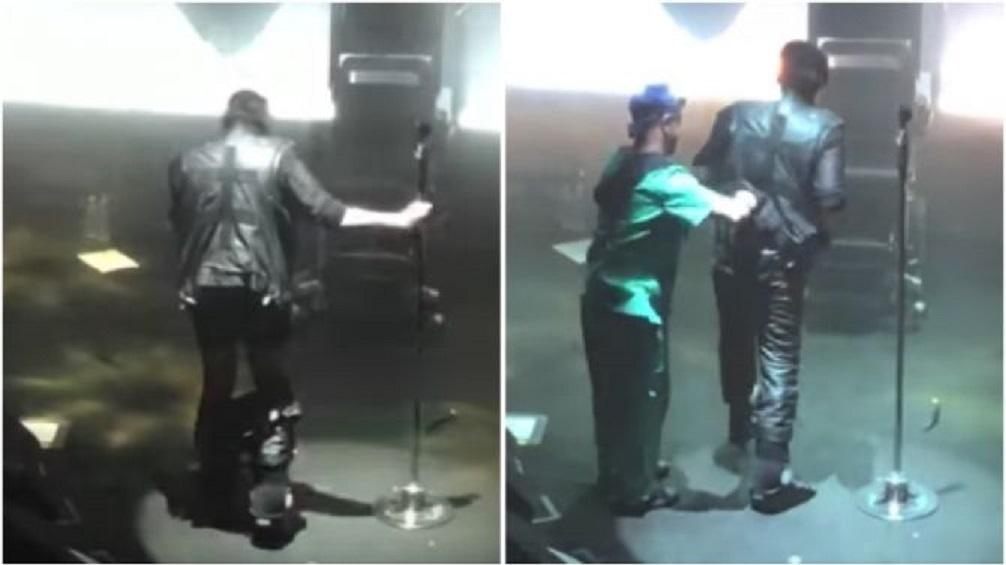 Marilyn Manson loses pants during show in Las Vegas