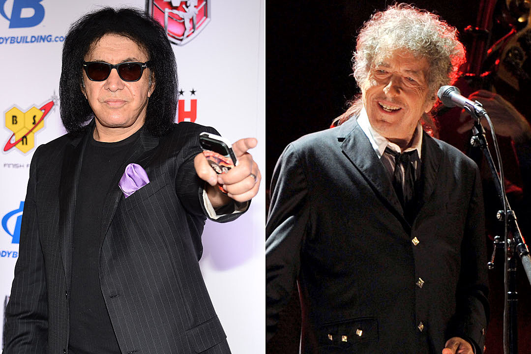 Gene Simmons and Bob Dylan