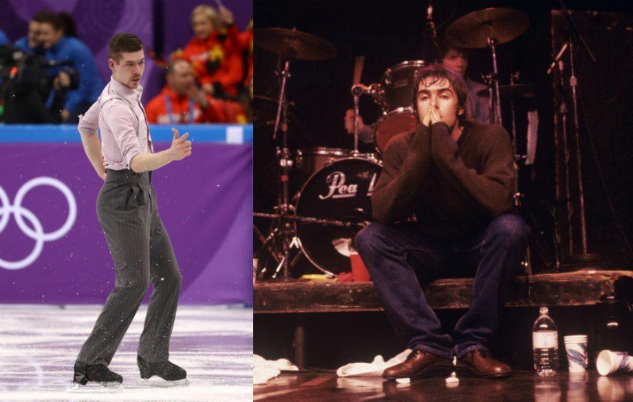 Skater uses jazz version of Wonderwall at the Winter Olympics
