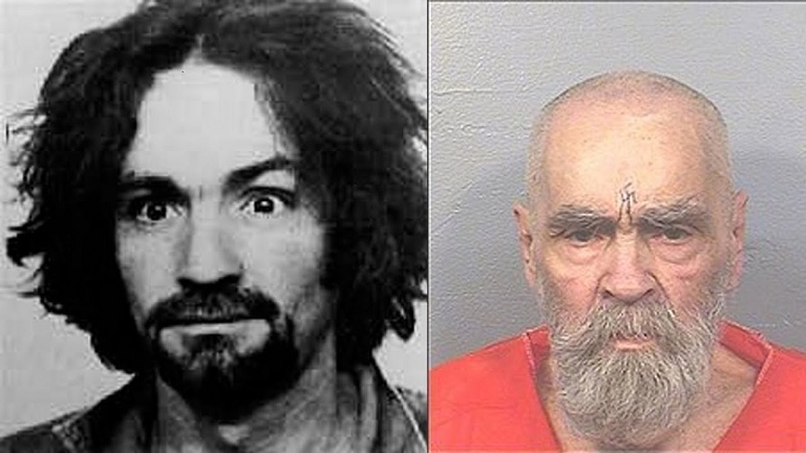 Charles Manson young and old