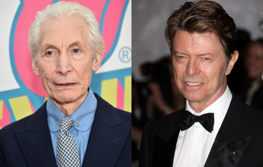 Charlie Watts and David Bowie
