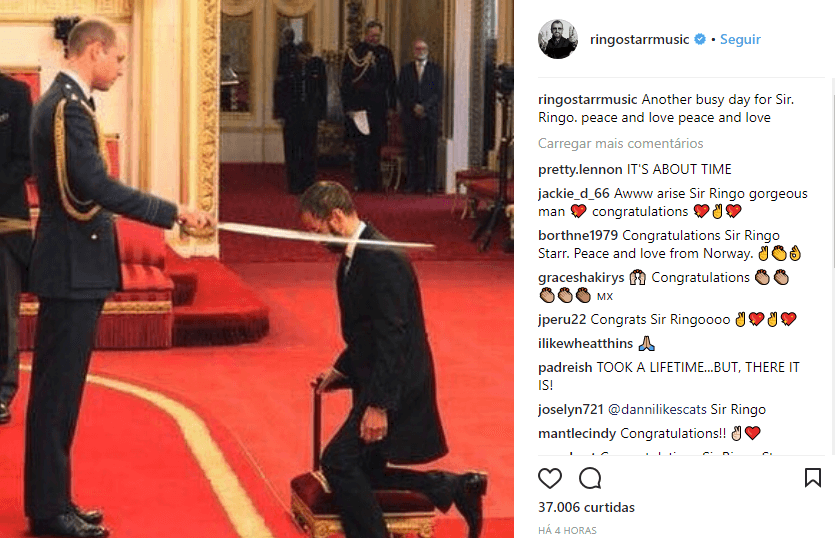 Ringo Starr knighted