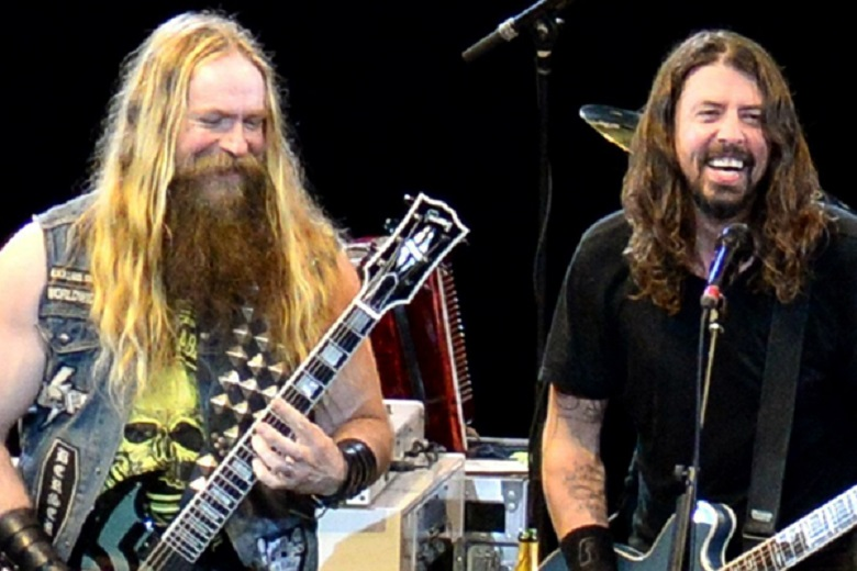 Zakk Wylde and Dave Grohl