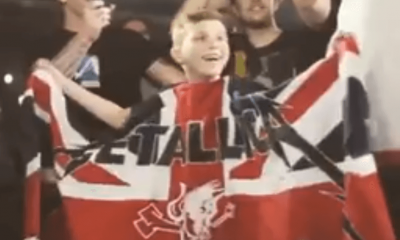 Kid cries for Metallica