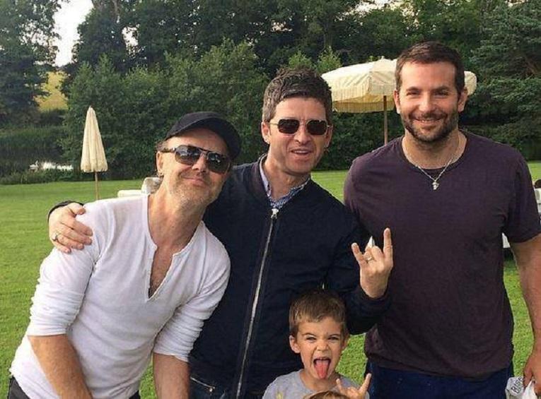 Lars Ulrich, Noel Gallagher and Bradley Cooper