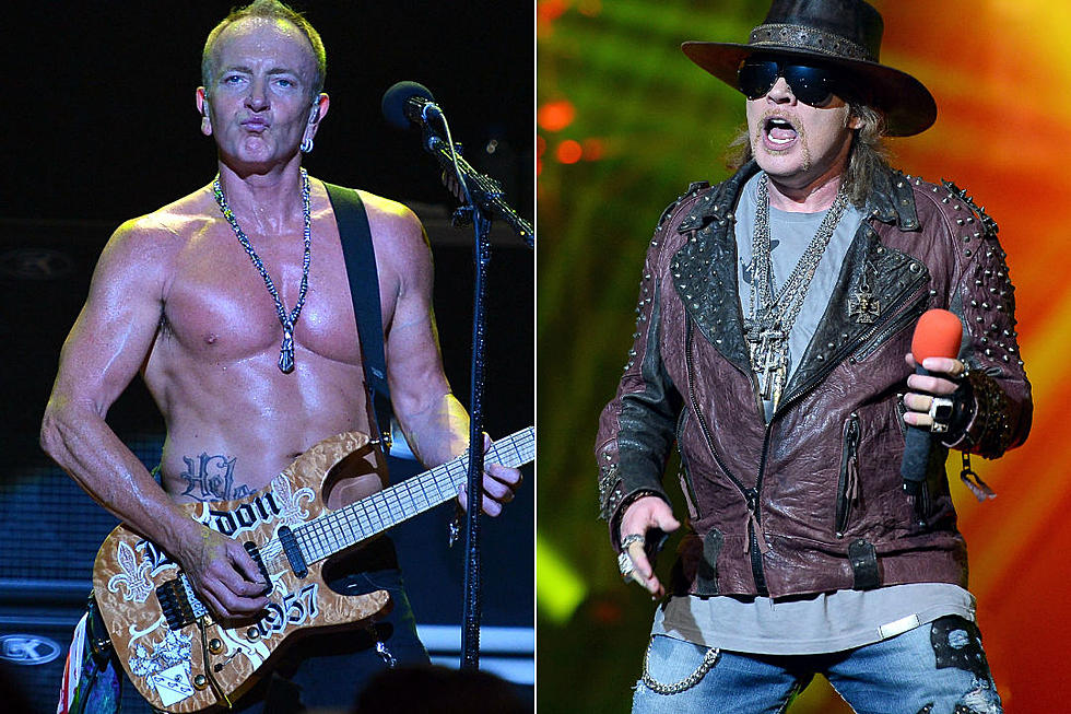 Phil Collen and Axl Rose