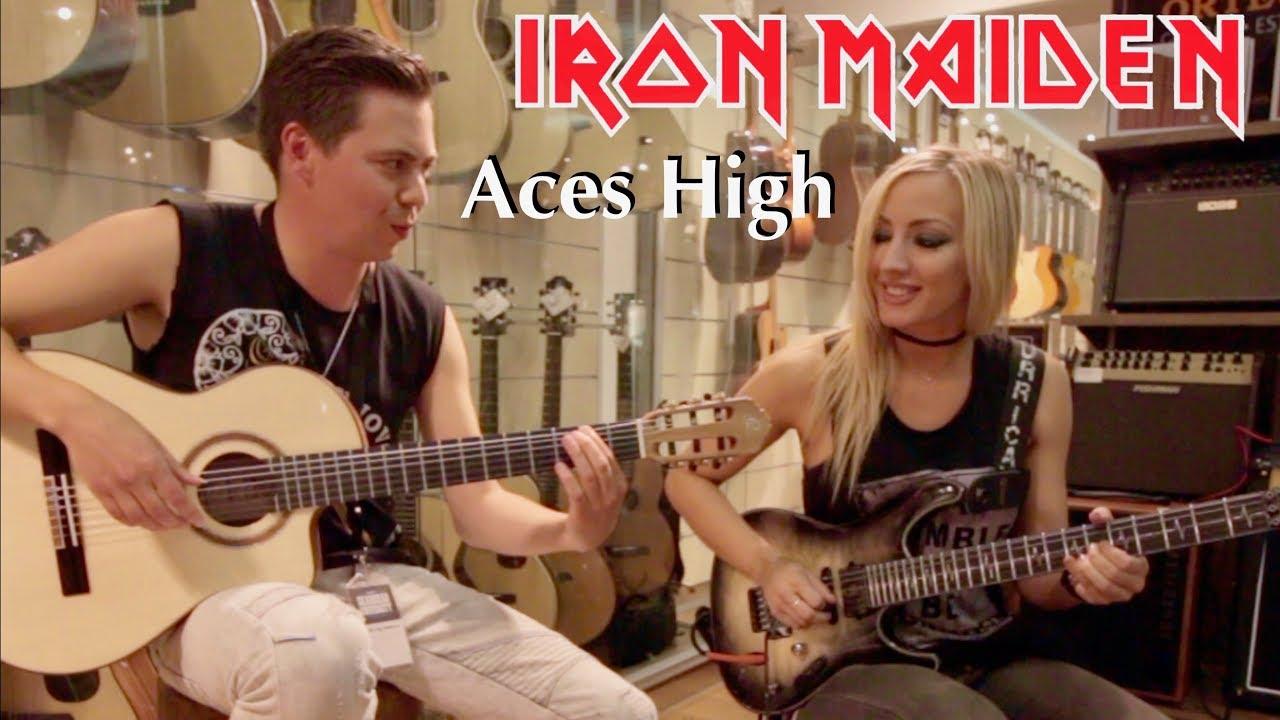 Nita Strauss playing Iron Maiden