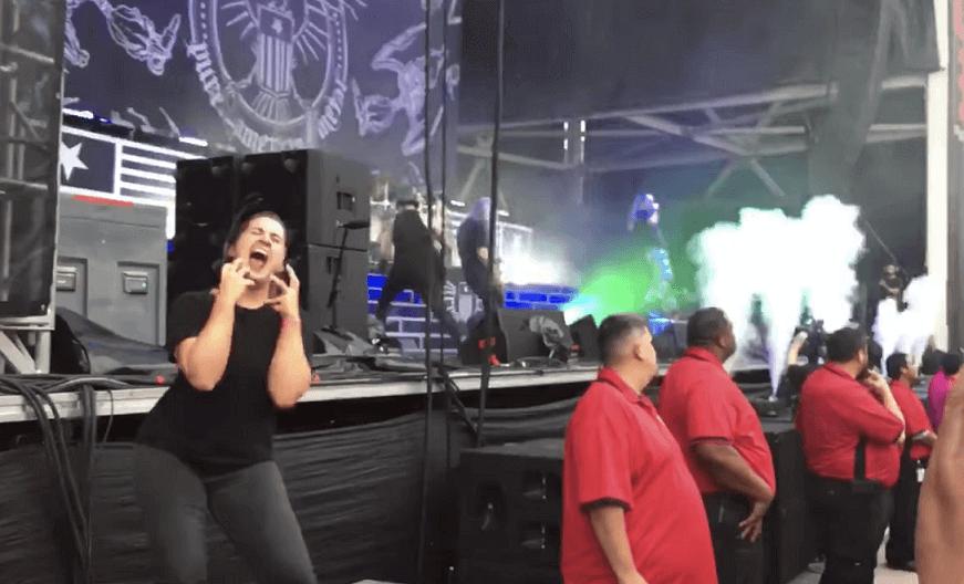 Sign language at heavy metal concert