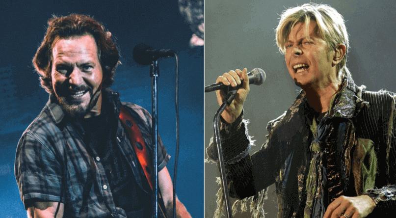 Eddie Vedder and David Bowie